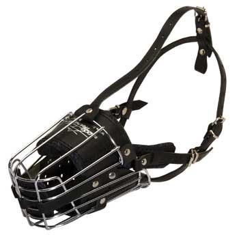 Metal Basket Dog Muzzle for Dog Walking Training